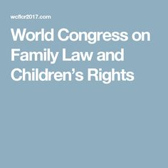World Congress on Family Law and Children's Rights