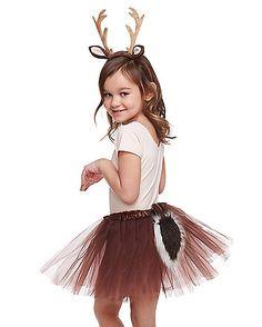 little girls tutu deer costume