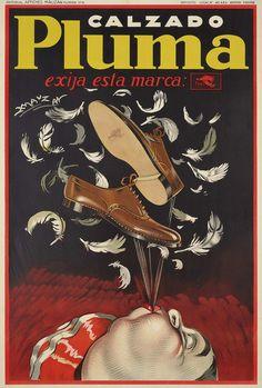 CALZADO PLUMA   Achille L. Mauzan (1883-1952)