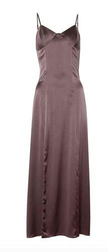 Mason Bustier Midi Dress with Slit