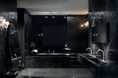 11 Black Luxury And Modern Bathroom Designs That Will Amaze You. Photo Number: 5 – Modern And Luxury Black Bathroom Design ideas Home Room Design, Dream Home Design, Modern House Design, Dream House Interior, Luxury Homes Dream Houses, Gothic Bathroom, Black Interior Design, Black Room Design, Gothic Interior