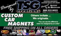 "Looking for Custom #Car #Magnets? Check out all TSG offers at http://www.TSGcreations.com, 14 years of ""Nothing But The Best"" for every customer"