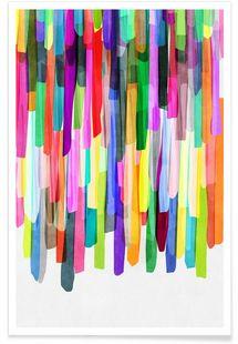Colorful Stripes 4 - Mareike Böhmer - Premium Poster
