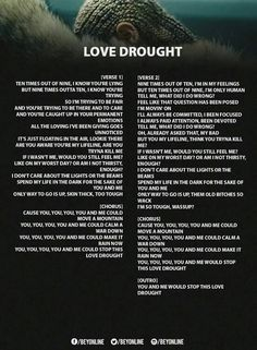Love Drought Lyrics ❤