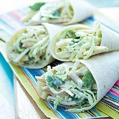 A recipe for a delicious smoked chicken and corn slaw wrap by Phillippa Cheifitz Chicken Works, Smoked Mackerel, Lunch Wraps, Smoked Chicken, My Cookbook, Wrap Sandwiches, Summer Recipes, Healthy Living, Clean Eating