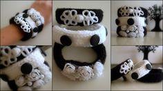 Knitted Bracelets KB 23 WINTER MOOD Set of 3 by Vladilenashandmade, $20.00