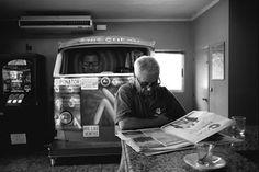 RAMÓN GRAU. Director of Photography: En la carretera . Monegros junio de este año . ContaxG2 . Trix .