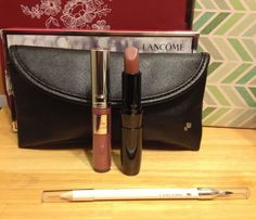 Valentine's Makeup Lancome Universal Lip Set Lipcolor Gloss Liner with bag New #Lancome