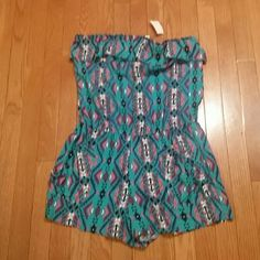 Cute Little Aztec Romper!!! Brand New Loving this cutie! SZ LARGE!  See pics for details.....JUNIOR SIZING L8ster  Shorts