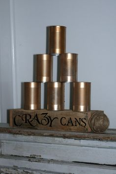 Crazy Cans Game For Rustic Country Wedding Carnival Event Game Vintage Wedding Game Tailgate Game Party Game Outdoor Game Hand Crafted Vintage Wedding Games, Rustic Wedding, Diy Wedding, Wedding Ideas, Reception Games, Tailgate Games, Carnival Wedding, Cowgirl Party, Harvest Party