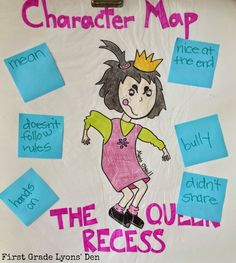 First Grade Lyons' Den: Mean Jean, The Recess Queen Teaching First Grade, First Grade Reading, Teaching Reading, Guided Reading, Reading Groups, Beginning Of The School Year, First Day Of School, Recess Queen, Character And Setting