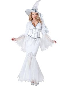 a6cf11eb1f9 White Magic Witch Adult Womens Costume – Spirit Halloween Best Female Halloween  Costumes