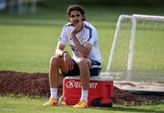 Andrea Ranocchia attends during FC Internazionale training session at the club's training ground at Appiano Gentile on May 14, 2015 in Como, Italy.