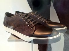 Just checking in on my favorite Lanvin sneakers in our Taylor street window.  I think they are my size.