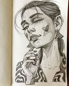"""Sunday Dreamer"" pencil on moleskin paper 2018✍️ swipe up to se the process of drawing step by step #pencil #sketch #sketchbook #blackbook #moleskine #erase #girl #sunday #dreamer #practice #stepbystep #sexy #instart #instagram #drawing #fresh #lookbook #book"