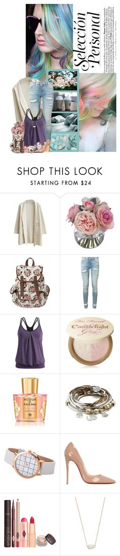 """Opal Strands and Pastel Clothes ❤"" by xshadesofblackx ❤ liked on Polyvore featuring Børn, Diane James, Off-White, Black Diamond, Too Faced Cosmetics, Acqua di Parma, Lizzy James, Christian Louboutin, Kendra Scott and Alexis Bittar"