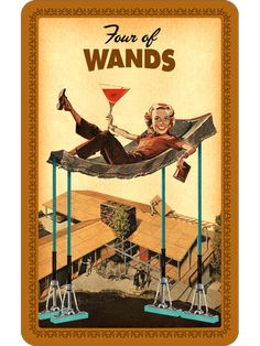 Housewives Tarot - Four of Wands