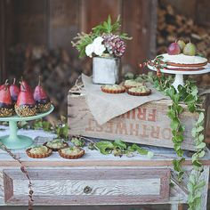 Brides.com: 24 Creative Wedding Dessert Bar Ideas A pie-pop dessert stand with letter marquee lights and assorted cake pops. Photo: This Love of Yours Photography