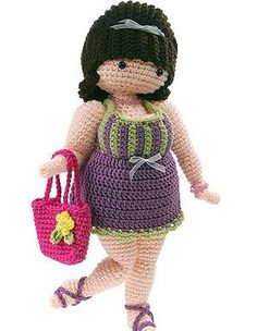 crocheted doll Suzette: free pattern