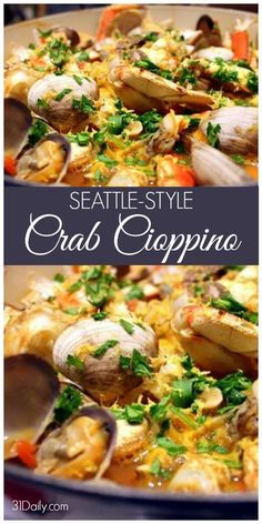 Style Cioppino Seattle Style Cioppino Cioppino Is A Fisherman Stew Well Known In The Pacific Northwest And With Crabbing Season Underway A Timely Seasonal Meal It S Regional It S Delicious And Incredibly Easy To Make Seattle Style Cioppino Recipe Com Seafood Stew, Seafood Dishes, Fish Dishes, Fish And Seafood, Seafood Seasoning, Seafood Cioppino, Seafood Platter, Shellfish Recipes, Seafood Recipes