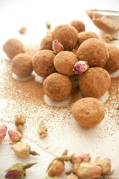 dark chocolate rose truffles
