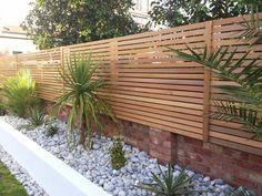 Picture result for contemporary garden fence - balcony garden 100 - Terassenzaun - garten Backyard Fences, Garden Fencing, Backyard Landscaping, Trellis On Fence, Landscaping Ideas, Modern Wood Fence, Wood Fence Design, Modern Backyard, Contemporary Landscape