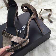 Nasty Gal Shoes - Bnwt nasty gal velvet tie up heels on Poshmark.