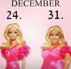 December 24 vs December 31 – Holiday Weight Gain is real, ya'll. Check out our funny new year memes! Funny Captions, Funny Memes, Hilarious, Funny New Years Memes, Fat Barbie, New Year Meme, Rage Comic, I Love To Laugh, Just For Laughs