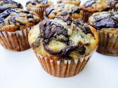 chocolate banana muffins - made this morning. . .