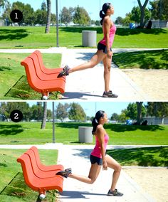 6 Strength Training Moves You Can Do with a Park Bench -