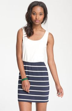 Mimi Chica Nautical Blouson Tank Dress- just bought for my bridal shower tomorrow! Super cute