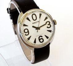 Vintage mechanical men's watch RAKETA BIG ZERO by USSRvintage