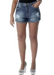 Shorts Boyfriend Cintura Alta (Jeans) Sawary