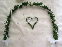 Ehrenplatz Kommunion Konfirmation weiß Rosen Herz