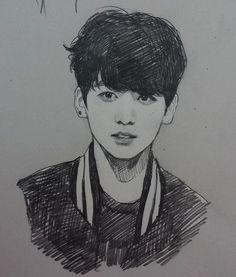 Bts Jungkook Fanart Credit to owner Jungkook Fanart, Kpop Fanart, Bts Jungkook, Namjoon, Hoseok, Kpop Drawings, Art Drawings Sketches, Pencil Drawings, Pencil Art