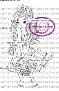 Digital Stamp, Digi Stamp, Digistamp, Sweet Annabelle by Conie Fong, Coloring…