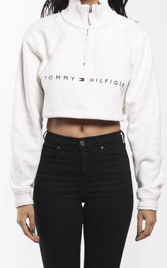 Vintage Tommy Hilfiger Crop Zip Sweatshirt | Frankie Collective