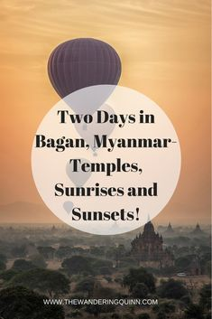 Two Days in Bagan Visiting the Temples and Seeing the Sunrise and Sunset! Bagan is such a magical place. I arrived on an overnight bus from Yangon in time to see the sunrise over the temples and then spent two days seeing the temples on a motorbike and seeing the sunset from the temples, as well as eating some lovely food! This is what I did on my two days in Bagan! #bagan #myanmar #myanmartravel #asia