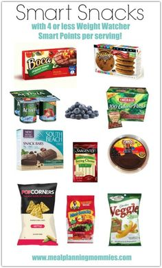 Healthy Recipes Smart Snacks with 4 or less Weight Watcher Smart Points of less per serving- Meal Planning Mommies - A list of over 60 quick and easy Weight Watchers snacks that are between Weight Watchers Smart Points on the WW FreeStyle program. Weight Watchers Snacks, Weight Watchers Tipps, Weight Watchers Smart Points, Weight Loss Snacks, Healthy Weight Loss, Weight Watchers Plan, Smartpoints Weight Watchers, Weight Watchers Products, Weight Watchers Restaurant Points