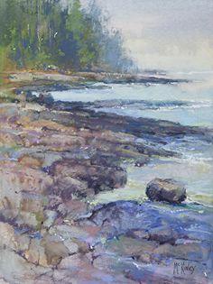 Cobalt Morning by Richard McKinley Pastel ~ 12 x 9