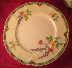 "Set of 4 Vintage Johnson Brothers China 7"" Bread Plates - Ontwood Pattern Pereek"