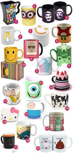 Minha Boutique de Luxo: Top 20: Canecas fofas e divertidas