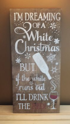 WHITE CHRISTMAS SIGN/Bar Decor/ Restaurant by kimburcreations