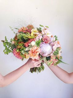Lovely Mixed Flower Bridal Bouquet Collaboration Ponderosa And Thyme Bridalbouquet Colors