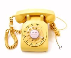 Vintage Yellow Telephone