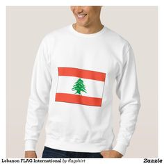 Lebanon FLAG International Pullover Sweatshirt