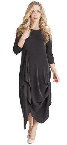 Sympli 3/4 sleeve drama dress – Artragous Clothing