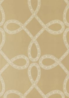 Salina Ribbon #wallpaper in #metallic #gold from the Lyric collection. #Thibaut #AnnaFrench