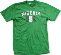 Nigeria Flag International Soccer T-shirt, Nigerian National Pride Mens Shirt, Medium, Kelly Ghast $13.95 http://www.amazon.com/dp/B004614QMW/ref=cm_sw_r_pi_dp_gmNNtb0AYW3V64E5 bookmark us at www.webshoppingmasters.com/salter3811