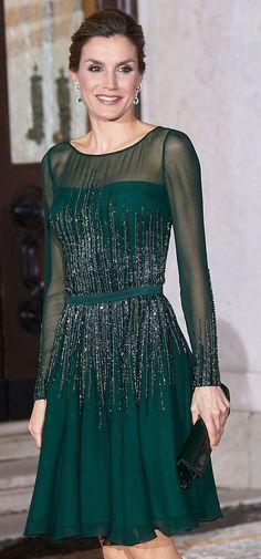 Felipe Varela hunter green illusion cocktail dress. Debuted 2013